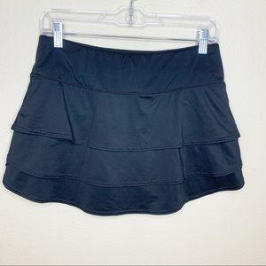 Athleta Swagger Athletic Black Ruffle Skirt Sz XXS